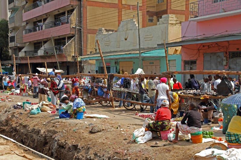 Venditori ambulanti in Africa fotografia stock