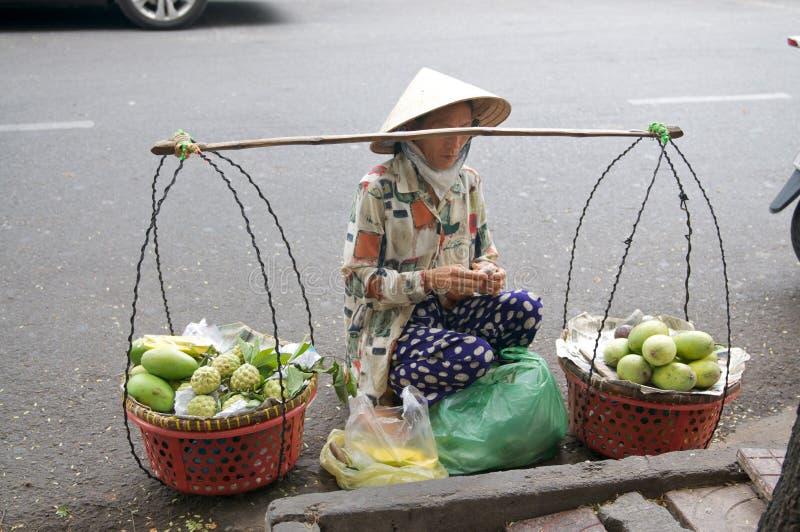 Venditori ambulanti di via del Vietnam immagine stock