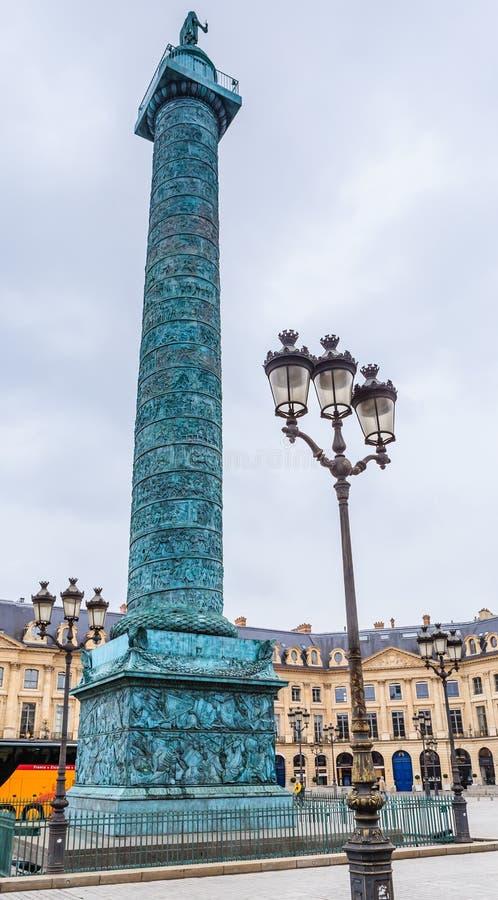 vendome статуи napoleon колонки bonaparte стоковое фото rf