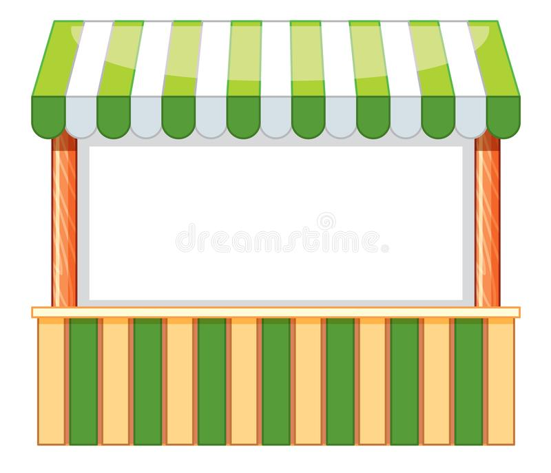 Vendor boot design with green and white color. Illustration vector illustration