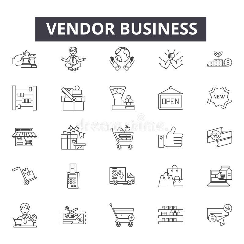 Vendor business line icons, signs, vector set, outline illustration concept vector illustration