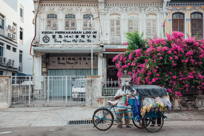 Download Vendor Sells Snacks From The Tricycle In George Town, Penang, Ma Editorial Photo - Image of oriental, house: 74269481