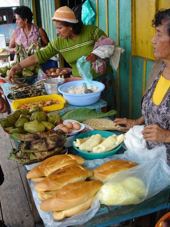 Vendors on the Amazon stock image