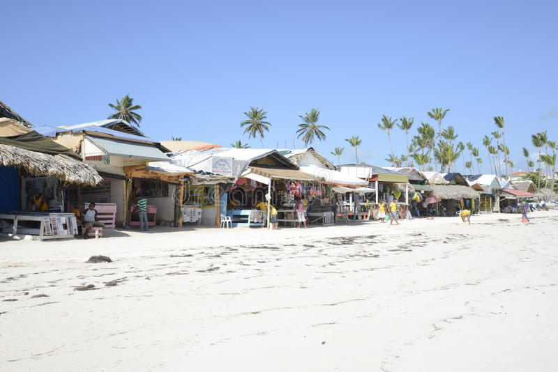 Vendors on the beach royalty free stock images