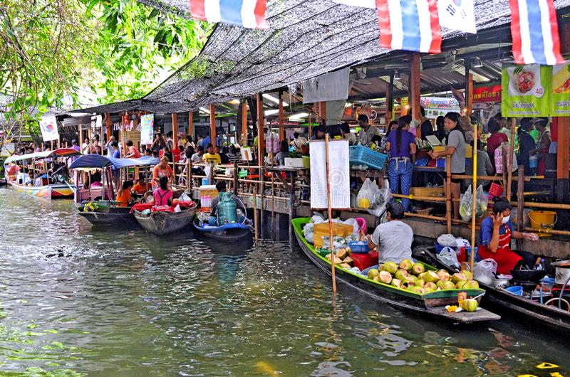 Download Khlong Lat Mayom Floating Market In Bangkok Editorial Stock Image - Image of bought, city: 103987014