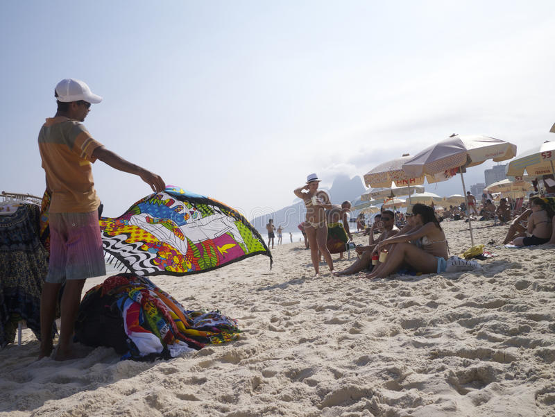 Download Vendors And Sunbathers On Ipanema Beach Rio Editorial Stock Photo - Image: 42179348