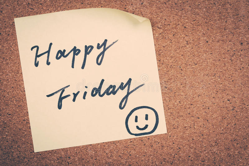 Vendredi heureux image stock