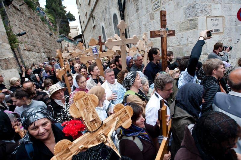 Vendredi Saint à Jérusalem images libres de droits