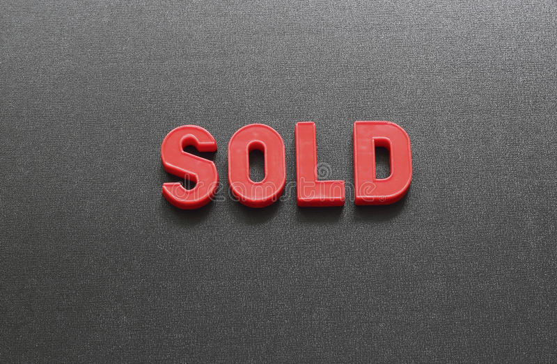 venduto fotografie stock