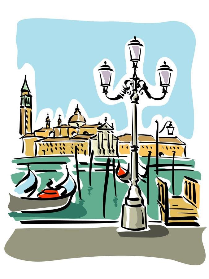 Venecia stock de ilustración