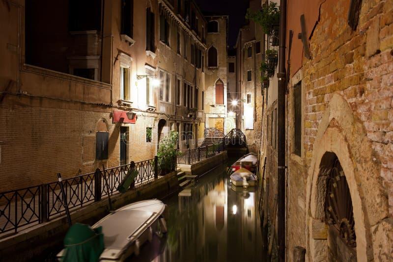 Venecia en la noche imágenes de archivo libres de regalías