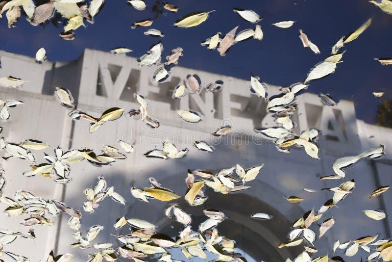 Venecia en la reflexión en el agua imágenes de archivo libres de regalías