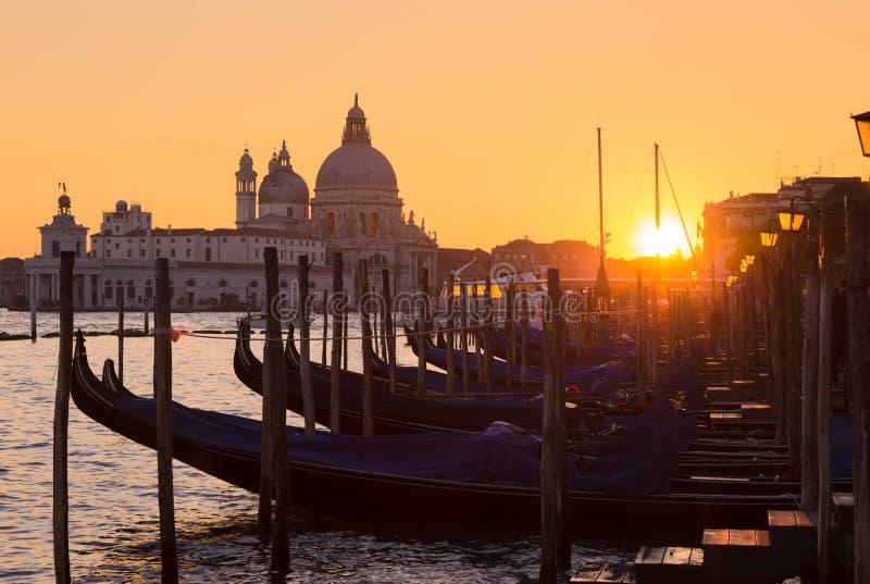 Venecia en puesta del sol fotos de archivo libres de regalías