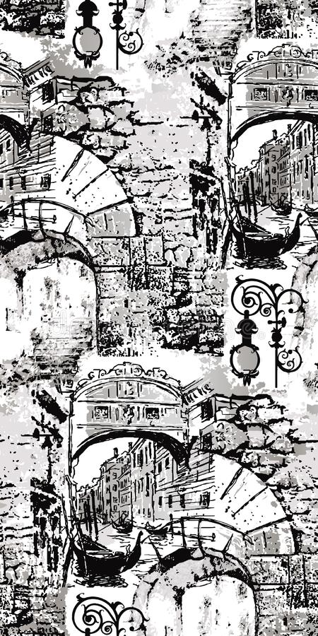 Venecia-Illustration abstrakter geometrischer Hintergrund Nahtloses Muster vektor abbildung