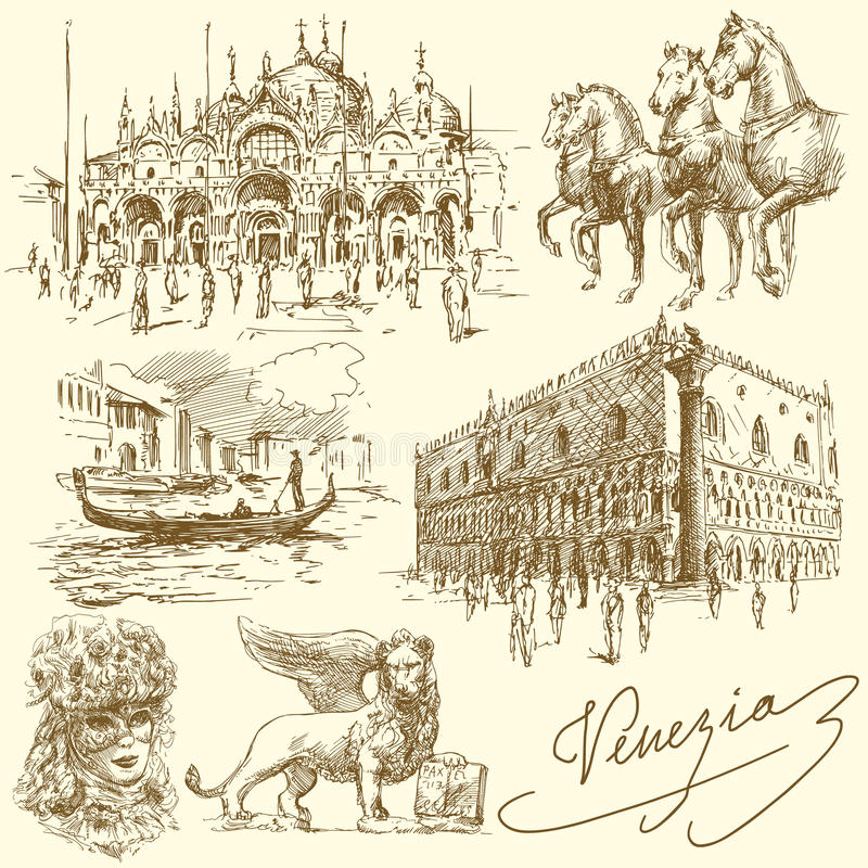 Venecia - Italia libre illustration
