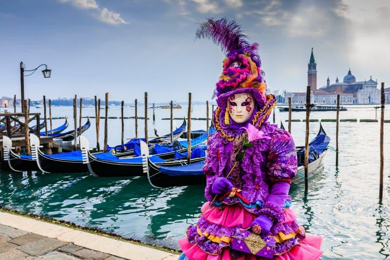 Venecia, Italia Carnaval de Venecia imagenes de archivo