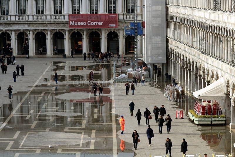 Venecia, Italia Plaza San Marco o Plaza de San Marcos Visi?n desde Basilica di San Marco fotografía de archivo libre de regalías