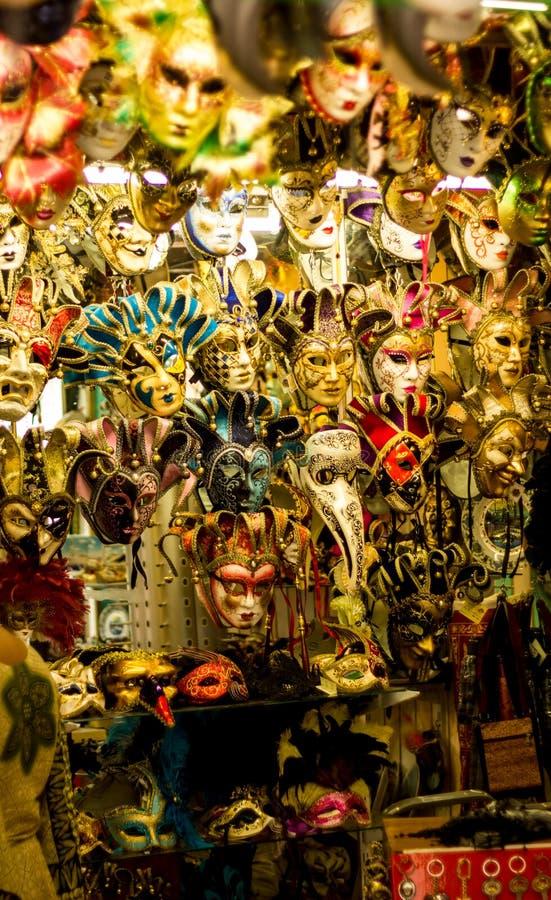 Venecia maskeringar italy arkivfoton