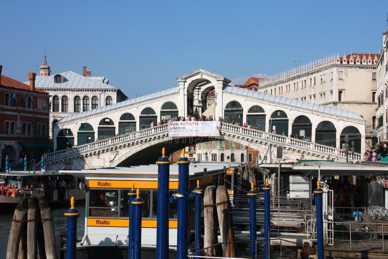 Venecia - puente de Rialto foto de archivo libre de regalías