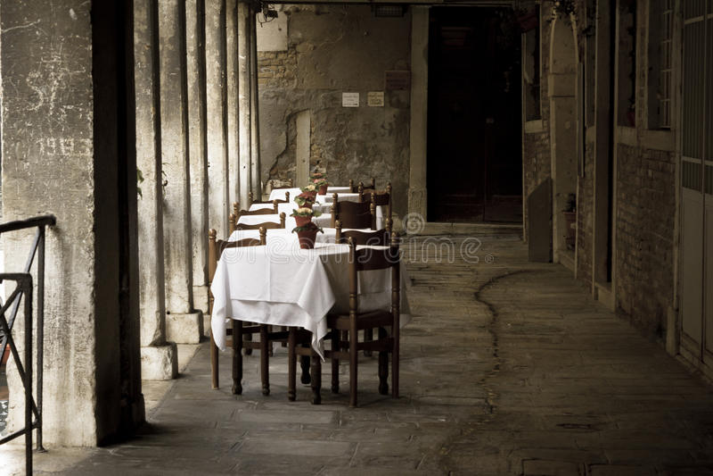Venecia, restaurante romántico fotos de archivo libres de regalías