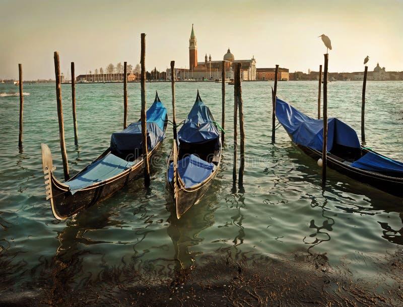 Venecia y góndolas fotos de archivo