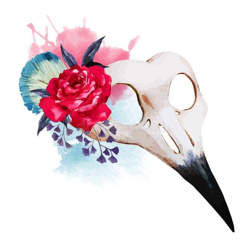 Venecian Maske des Aquarells lizenzfreie abbildung