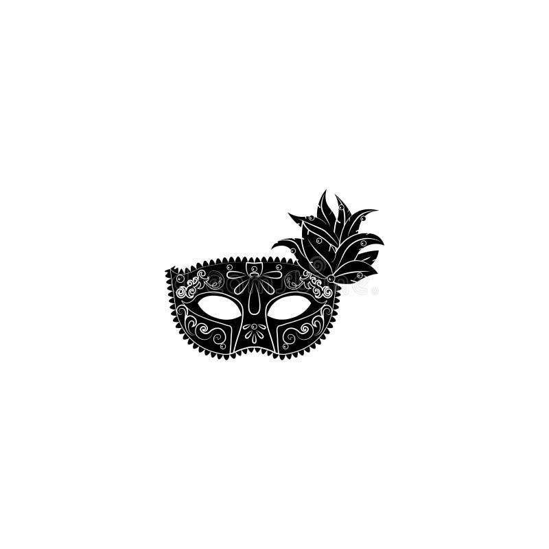 Venecian-Masken-Symbolzeichen vektor abbildung