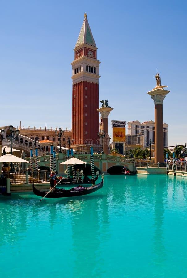 Veneciano en Las Vegas imagen de archivo
