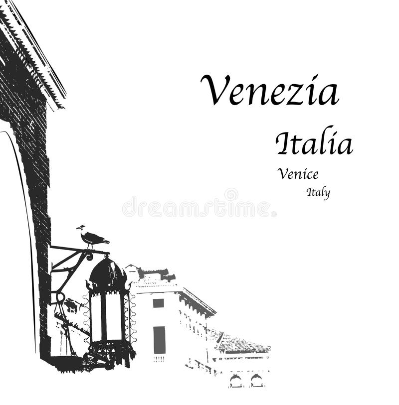 Venedig stock abbildung