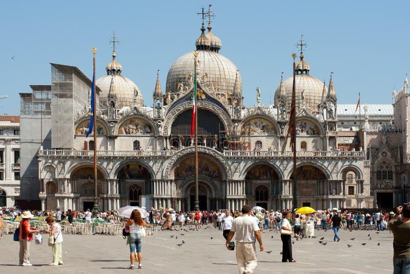 Venedig. Ansicht über Kathedrale im Quadrat der Str.-Markierung. lizenzfreie stockbilder