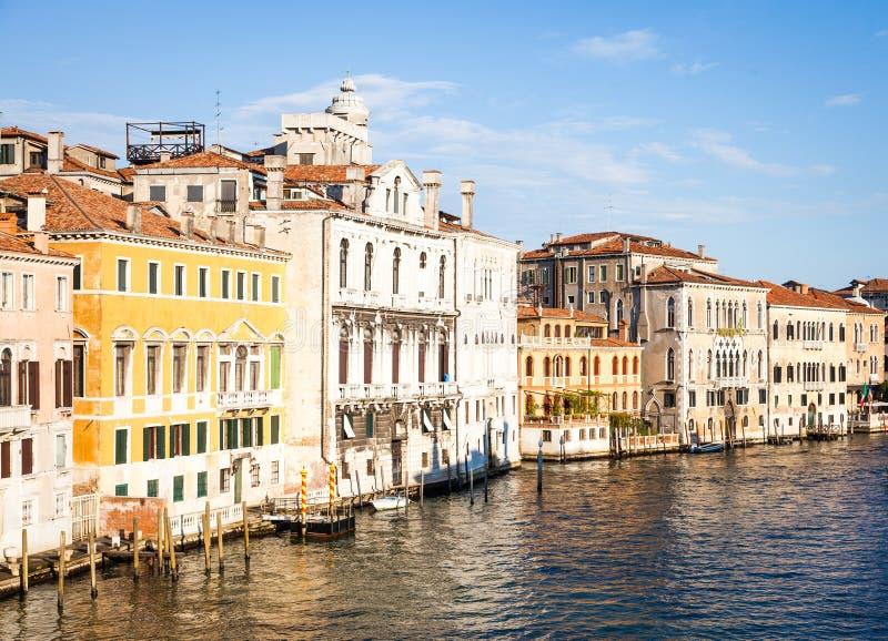 Venedig-Ansicht bei Sonnenaufgang stockbilder