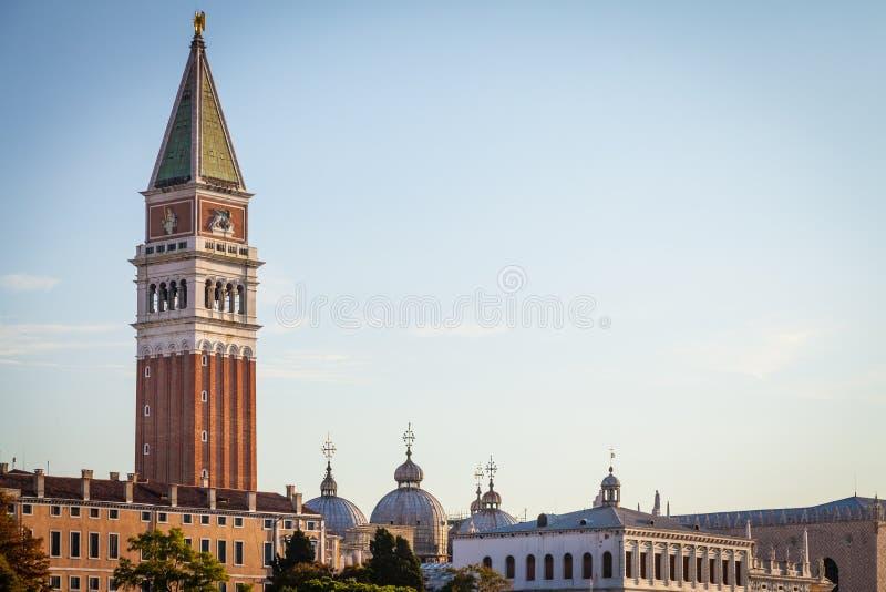 Venedig-Ansicht bei Sonnenaufgang stockfoto