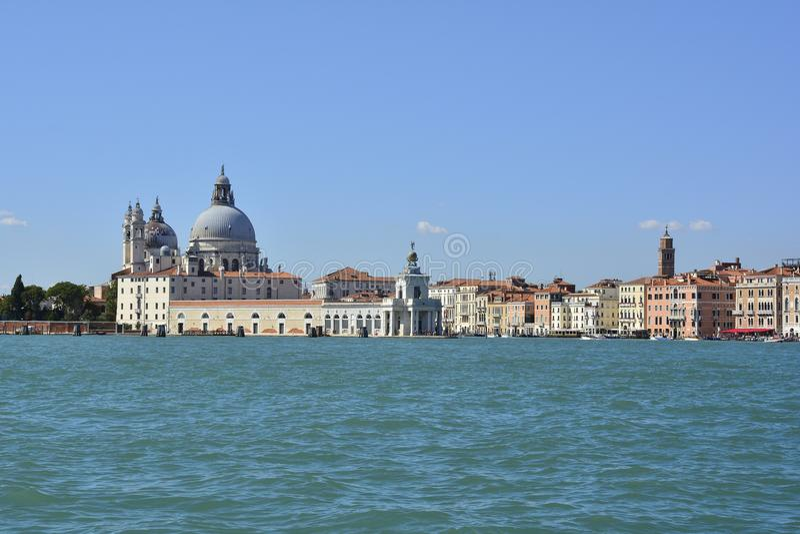 Venedig beskådade från San Giorgio Maggiore royaltyfria foton