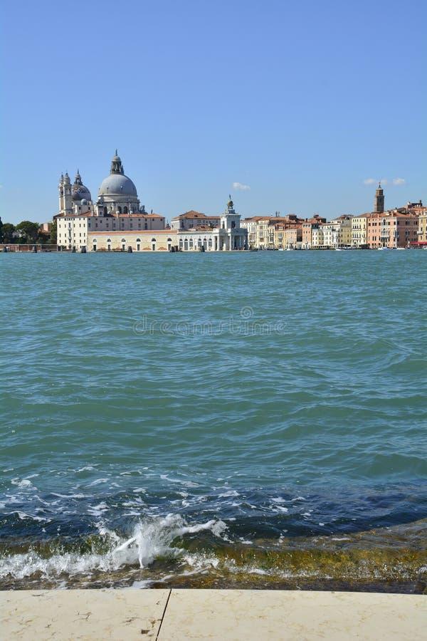 Venedig beskådade från San Giorgio Maggiore arkivfoton