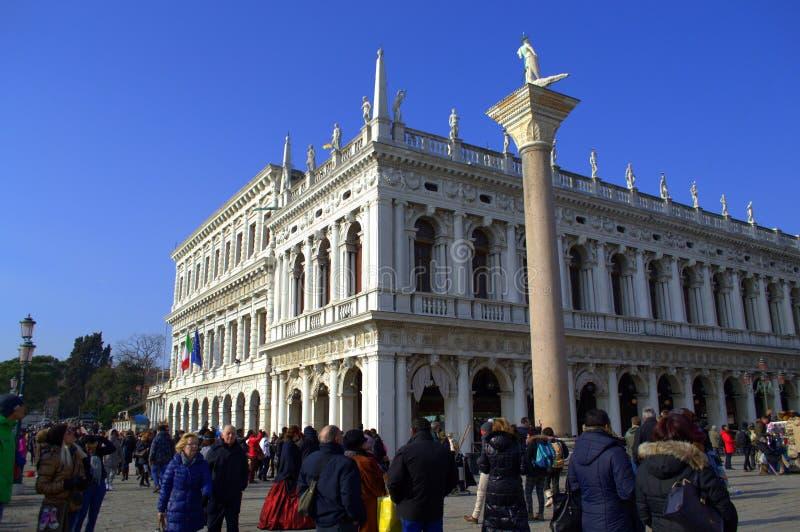 Venedig-Bibliothek lizenzfreie stockfotos