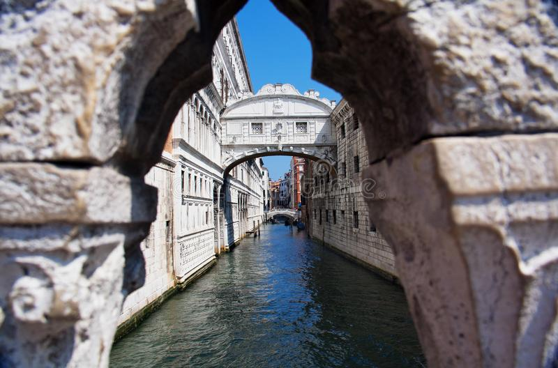 Venedig - Bridge of Sighs stock image