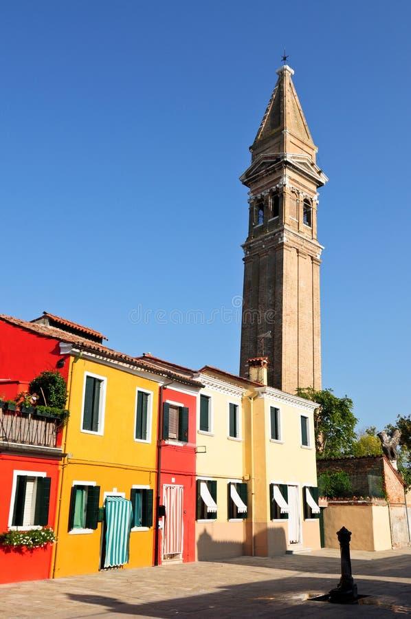 Venedig Burano stockbilder