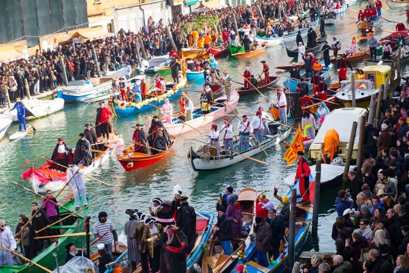 Venedig Carnivale fartyg arkivfoton