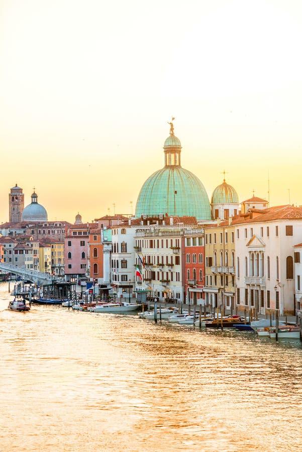 Venedig cityscapesikt arkivfoto
