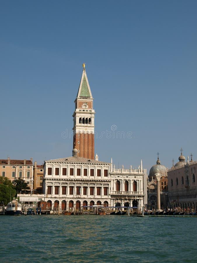 Venedig - der Kontrollturm der Str. Markierung und des Zecca lizenzfreie stockbilder