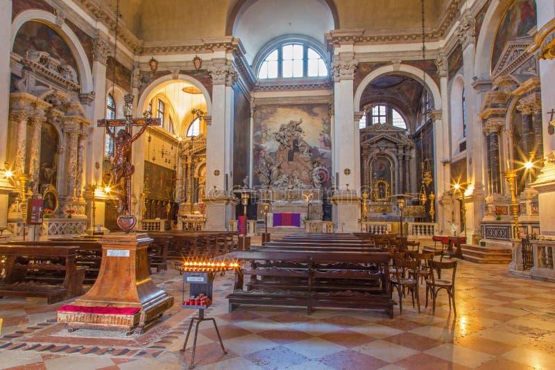 Venedig - die Kirche Chiesa di San Moise lizenzfreies stockfoto