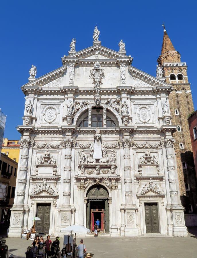 Venedig-e - Chiesa di San Moise lizenzfreies stockfoto