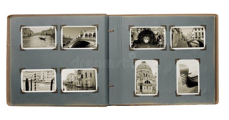 Venedig-Foto-Album stockfoto