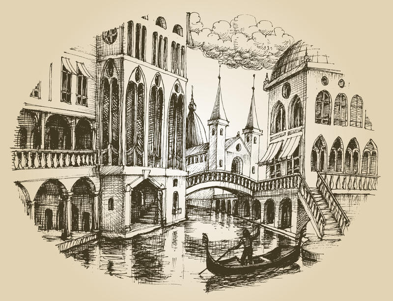 Venedig-Gondel vektor abbildung