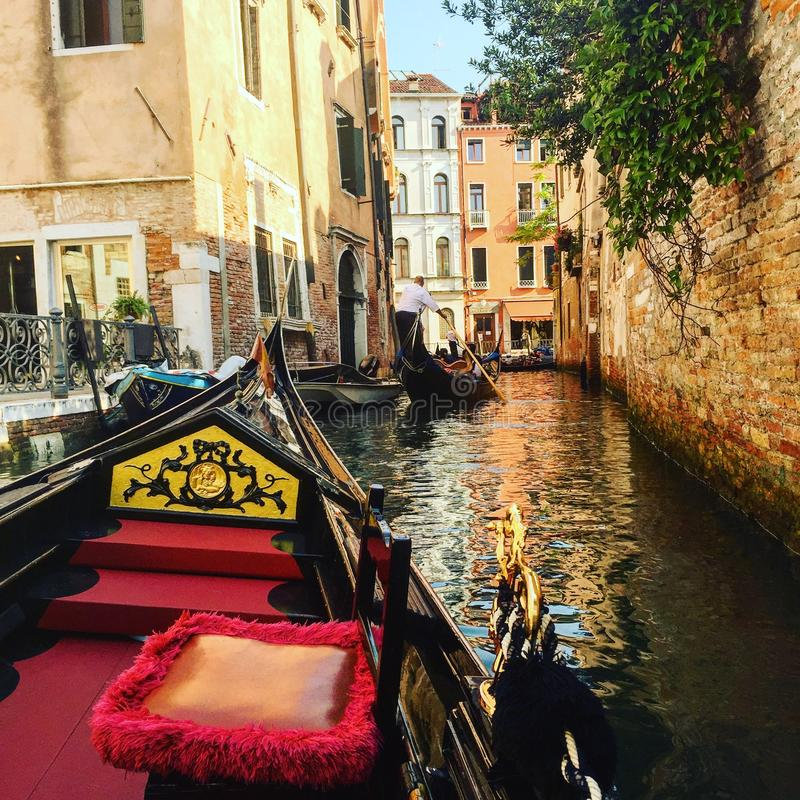 Venedig-Gondel stockfotos