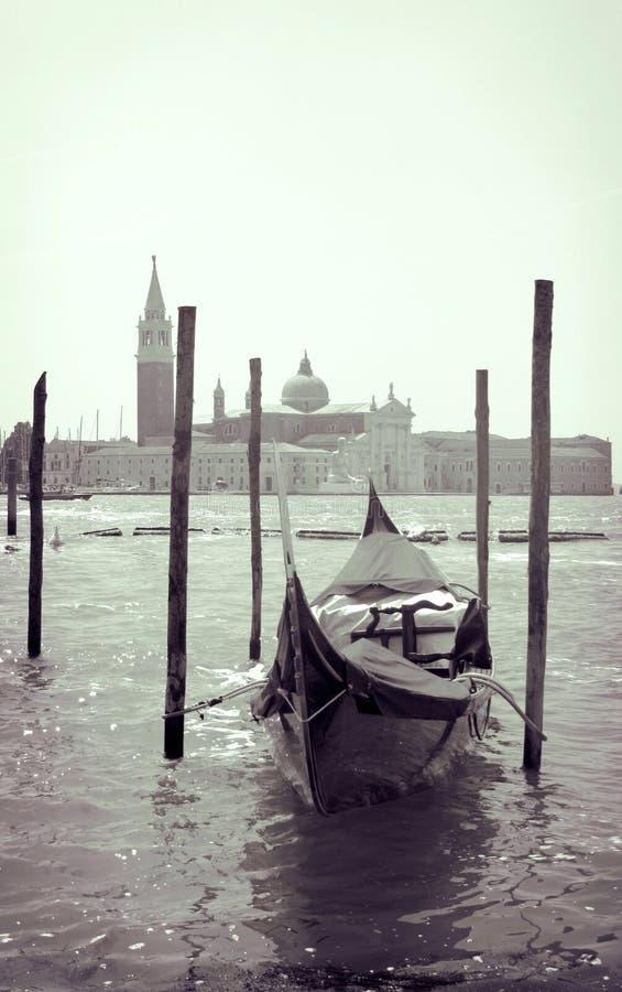 Venedig gondol royaltyfria foton