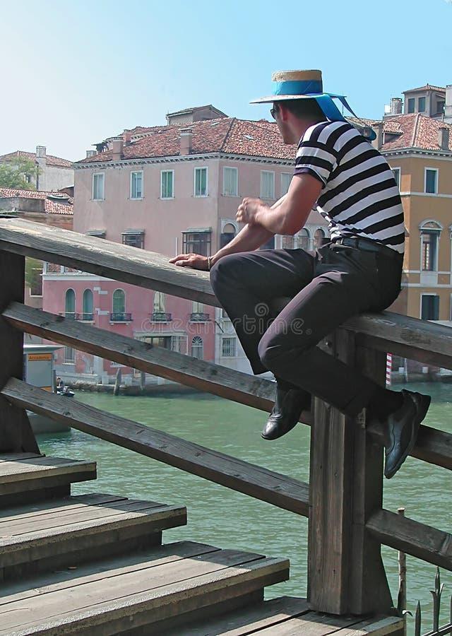 Venedig-Gondoliere lizenzfreie stockfotografie
