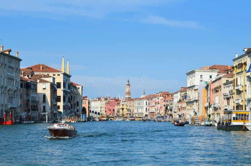 Venedig grankanal Italien arkivbilder