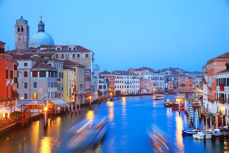 Venedig i solnedgångljus arkivfoto