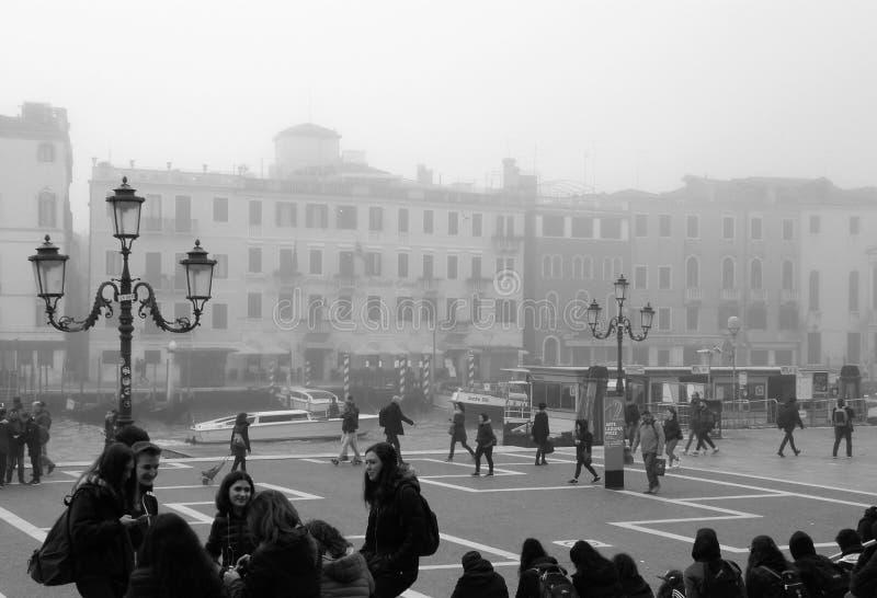 Venedig i svartvitt arkivfoto